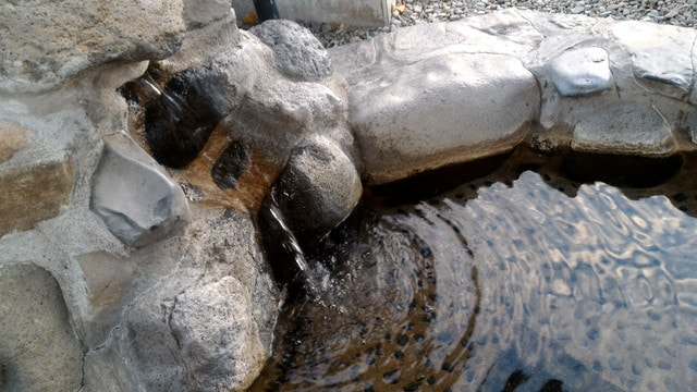 道の駅摩周温泉の足湯の注ぎ口